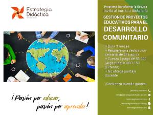 Curso Gestión de Proyectos Educativos para el Desarrollo Comunitario